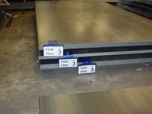 identificazione pacchi di lamiera , spianato , lamiere spianate , buste magnetiche , etichetta non su reggia , spessore e misura